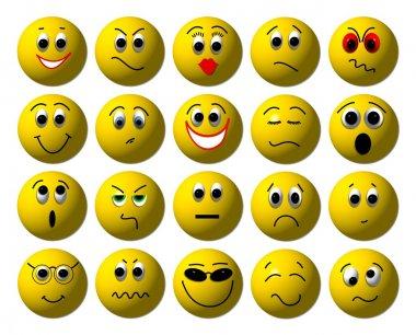 Set of Web smileys