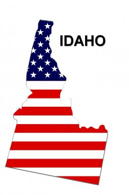 USA State Map Idaho stock vector