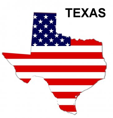 USA State Map Texas
