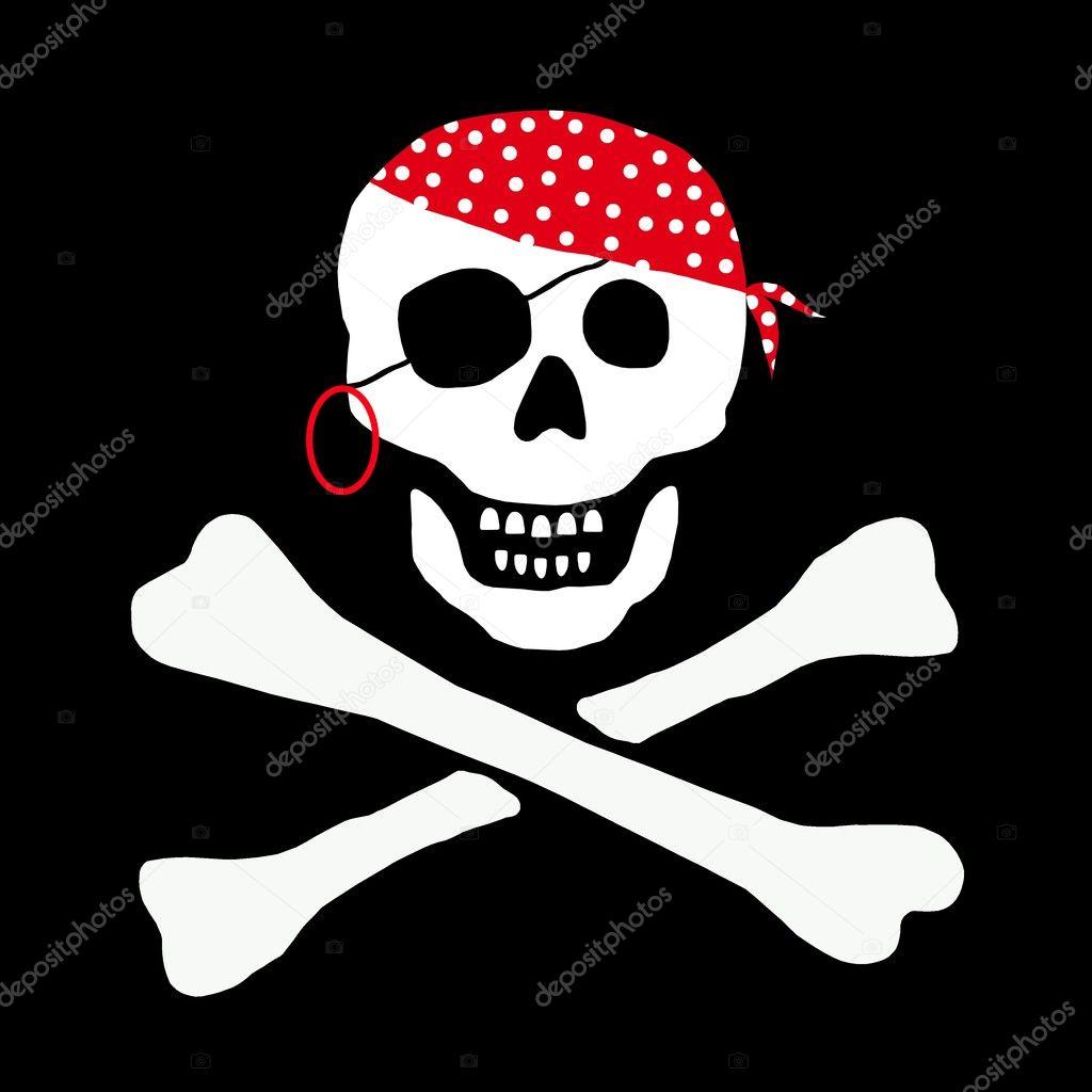 schädel und knochen piraten fahne — Stockfoto © pdesign #1765385
