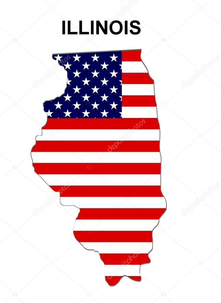 Mapa De Estado De Estados Unidos Illinois Foto De Stock - Mapa de illinois