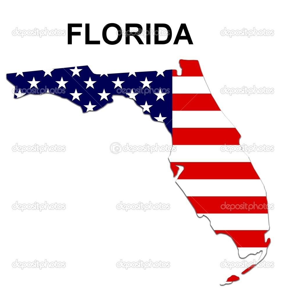 USA State Map Florida Stock Photo Pdesign - Us map florida state