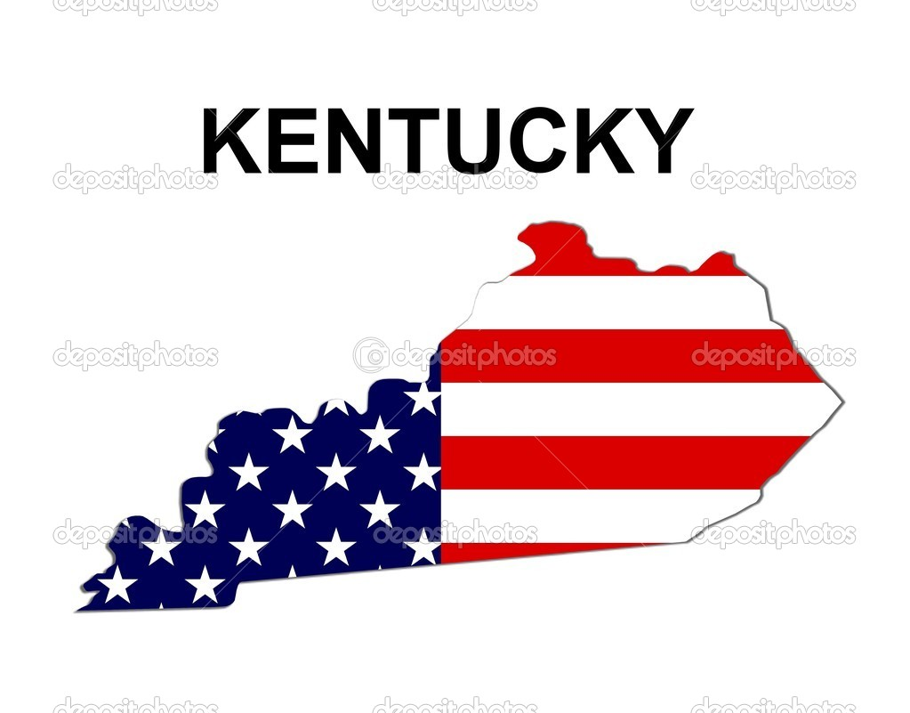 USA State Map Kentucky Stock Photo Pdesign - Kentucky on usa map