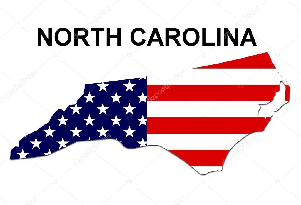 USA State Map North Carolina Stock Photo Pdesign - Us map north carolina