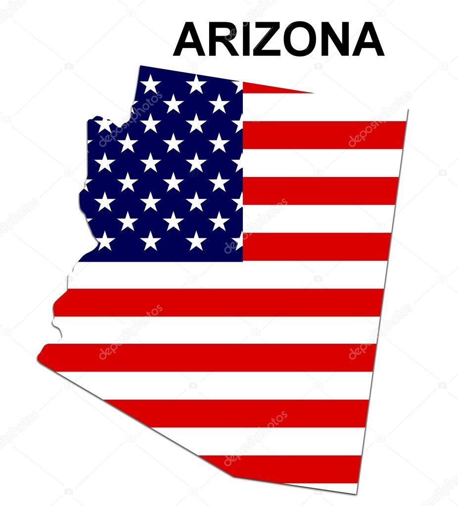 USA State Map Arizona Stock Photo Pdesign - Arizona map usa