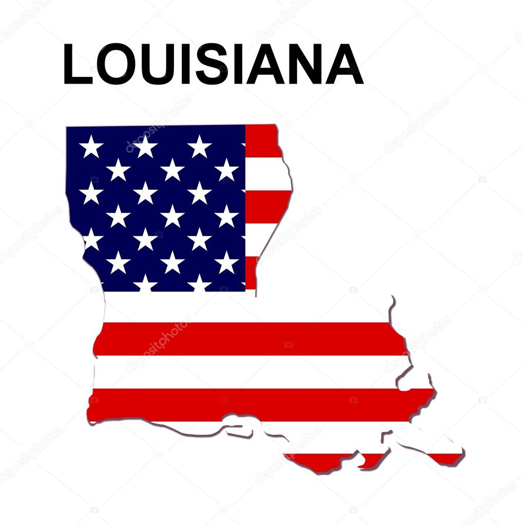 USA State Map Louisiana Stock Photo Pdesign - Louisiana on usa map