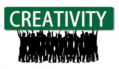 Business slogan Creativity Roadsign