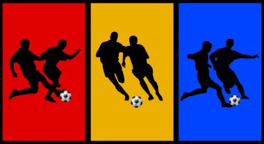 Colored collage with soccer player