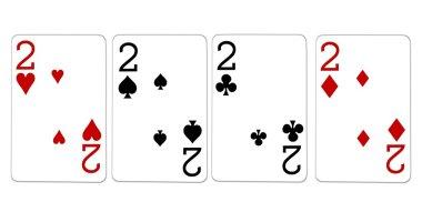 Poker Hand Quads Deuces