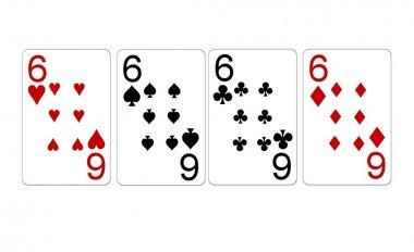 Poker Hand Quads Sixes
