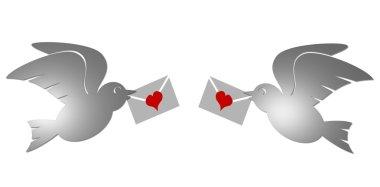 Two Doves in Love