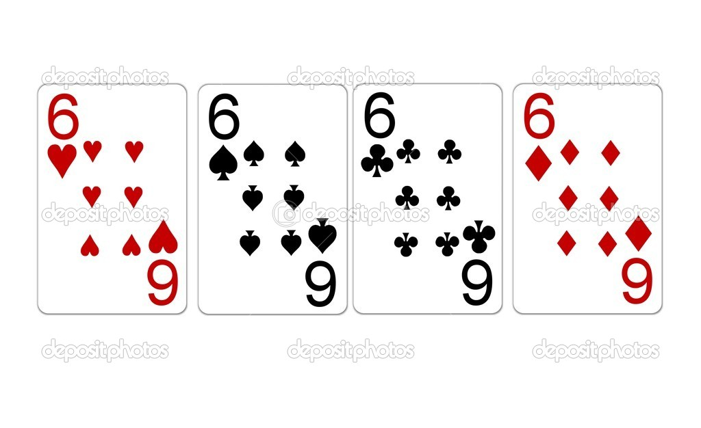Poker Hand Quads Sixes