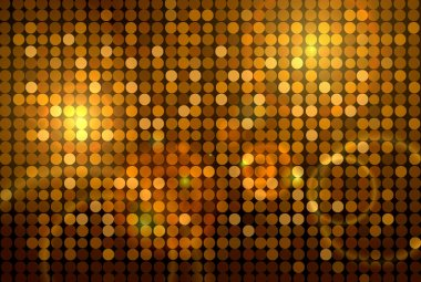 Golden disco background