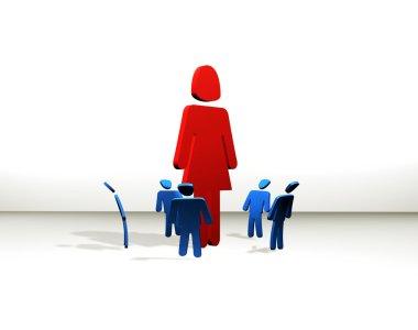 Woman totem - feminism concept