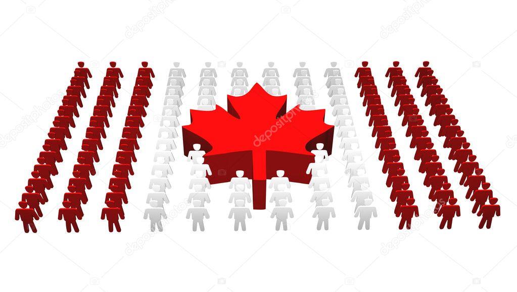 Canadian - Canada flag