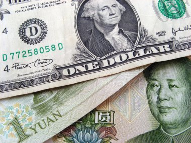 One dollar and one yuan