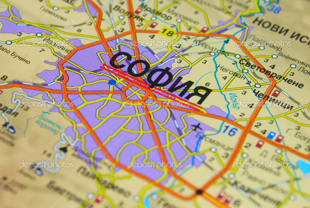 Sofia map close up Stock Photo STELLANOVA 1745912