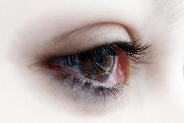 Eye full of tears