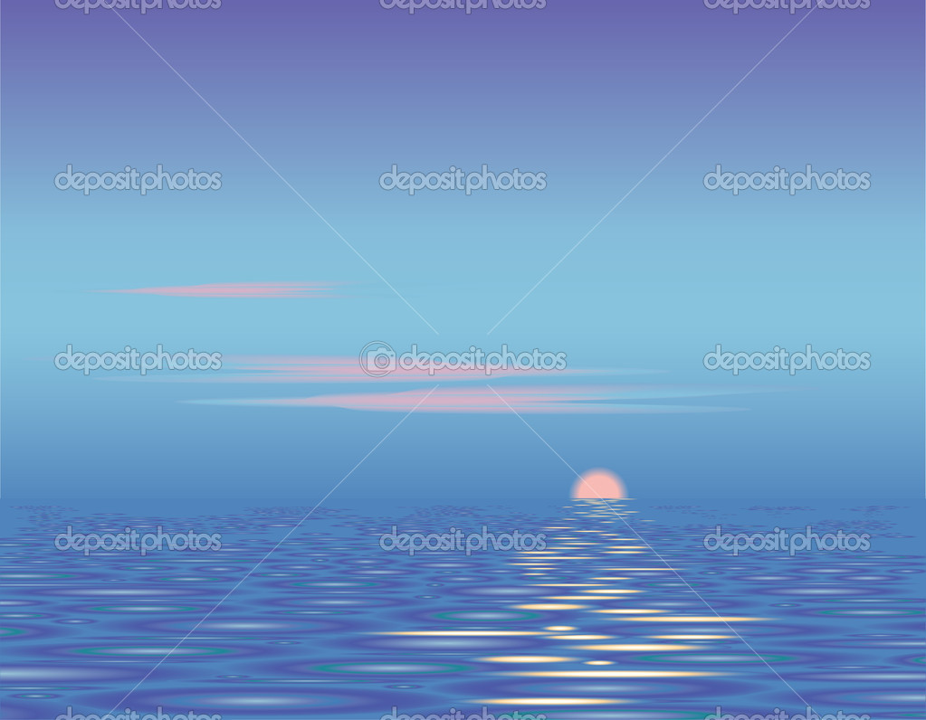 Sunset above the sea