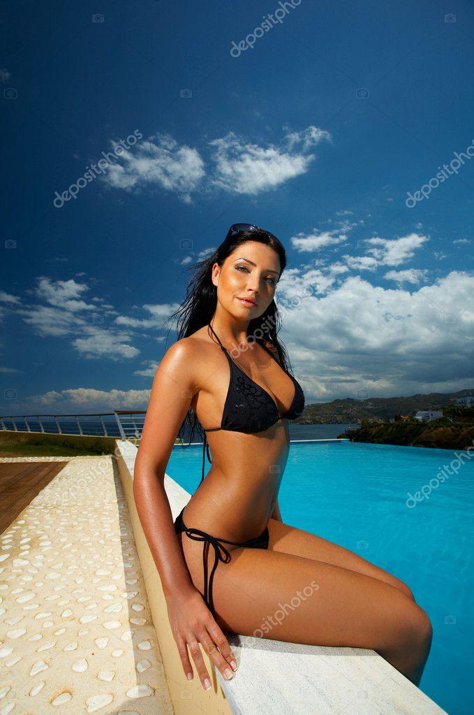 schwarzer Milf Bikini