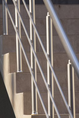 Big office building metal railing