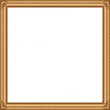 Golden Picture frame isolated white