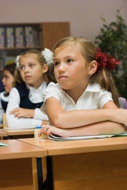 Schoolgirls in a classroom