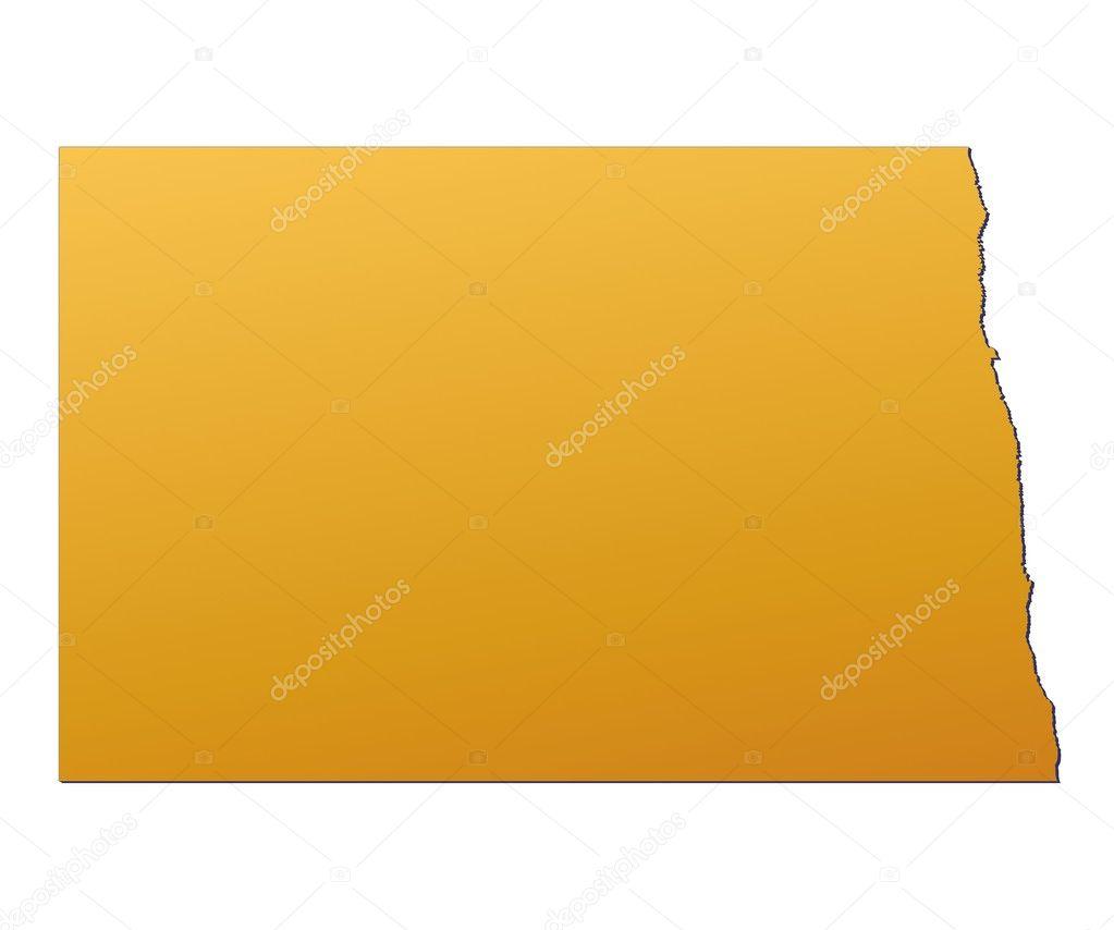 North Dakota (USA) map — Stock Photo © skvoor #2165953