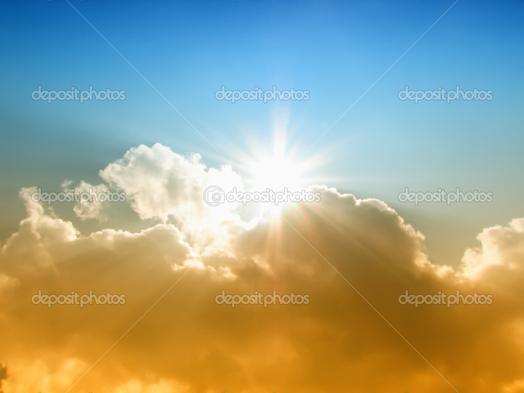 The sun and clouds