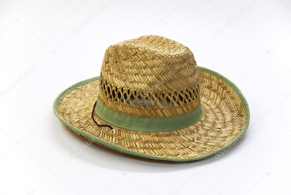 3a53a5daef6 Cool straw cowboy hat on white background — Photo by dop ing