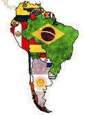 politická mapa Jižní Ameriky