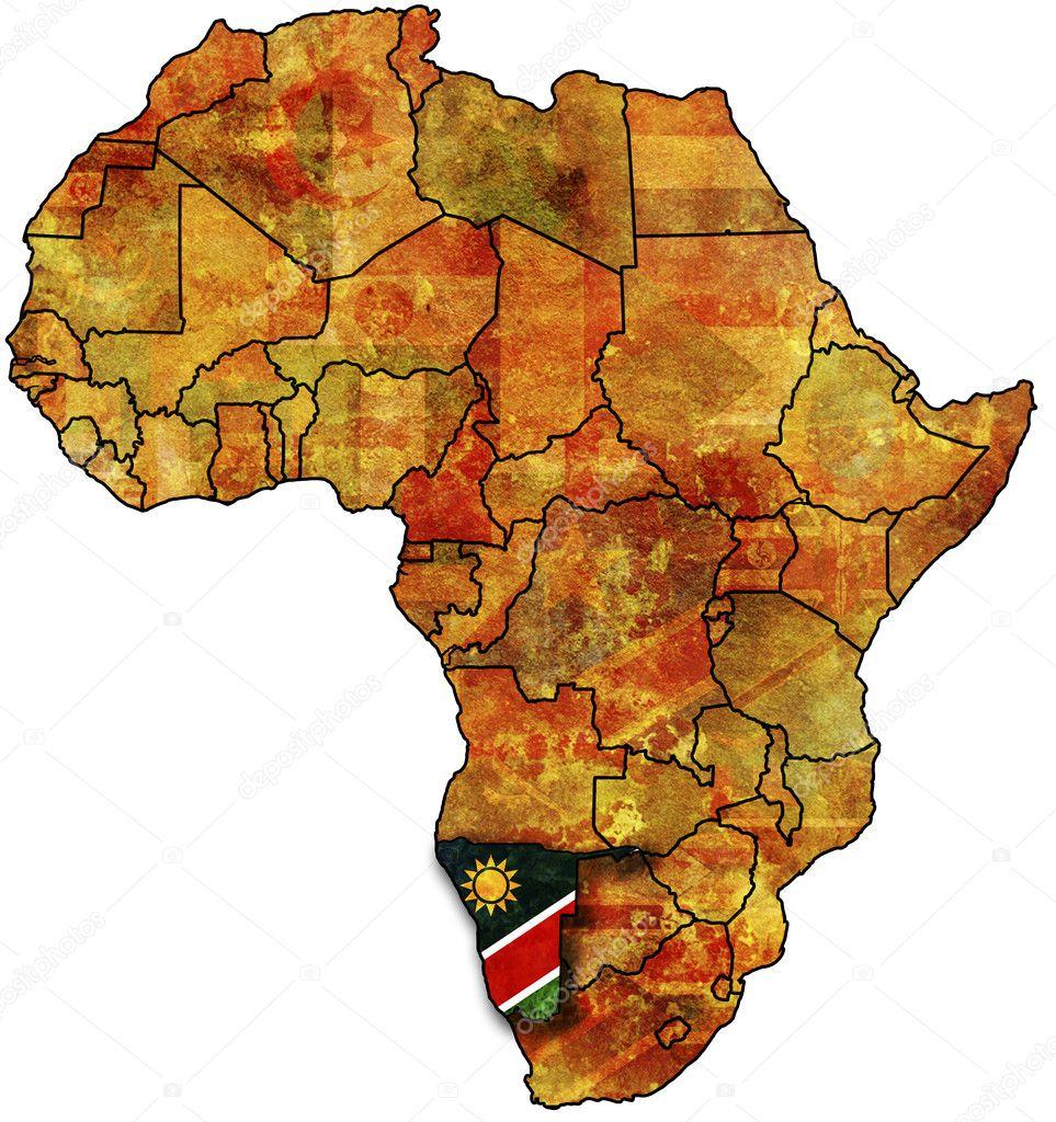 Karte Namibia Download.Old Flag Of Namibia Stock Photo Michal812 1743822