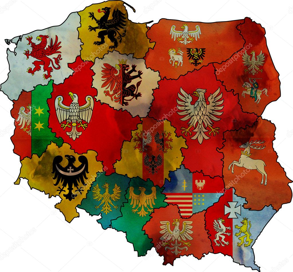 Administration Poland Map Stock Photo Michal - Poland map