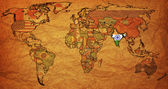 India on old map of world