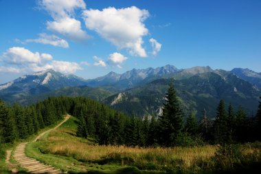 View of route in polish tatry