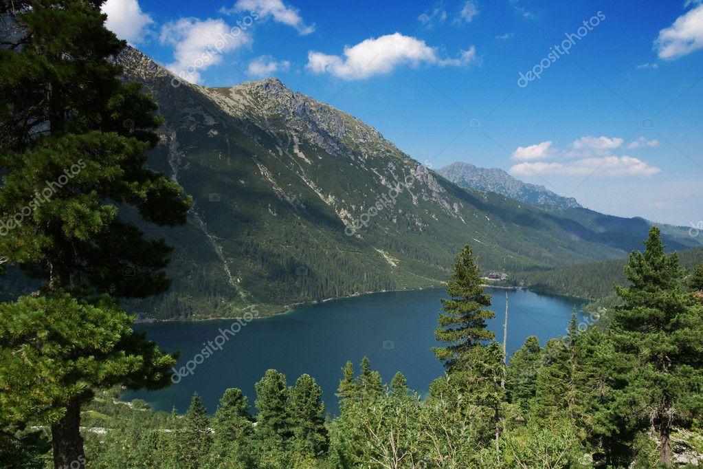 Mountains lake.