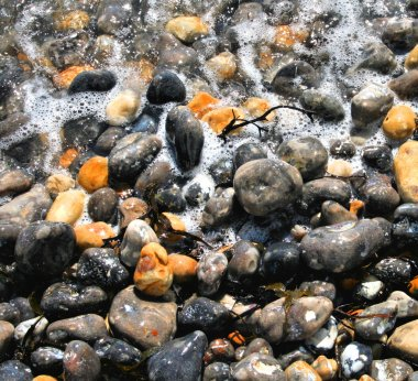 Sea Foam and Pebbles
