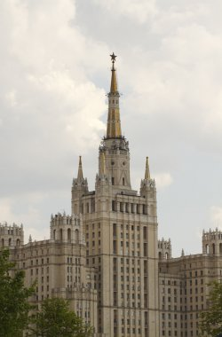 High building in Moscow