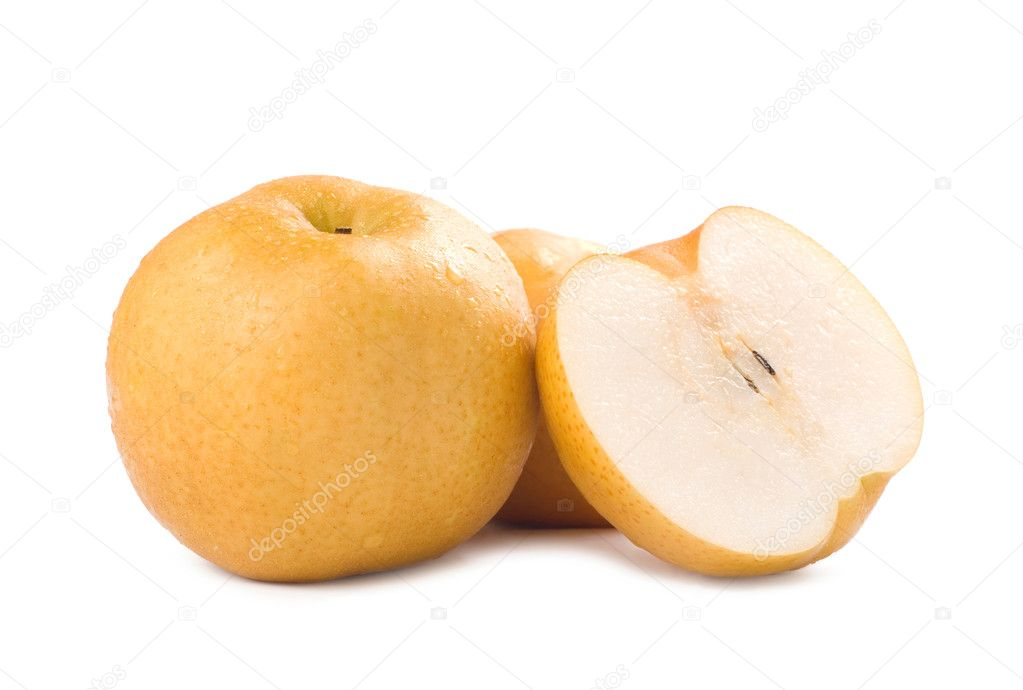 Isolated Japanese pear