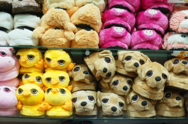 Assortment of house slippers