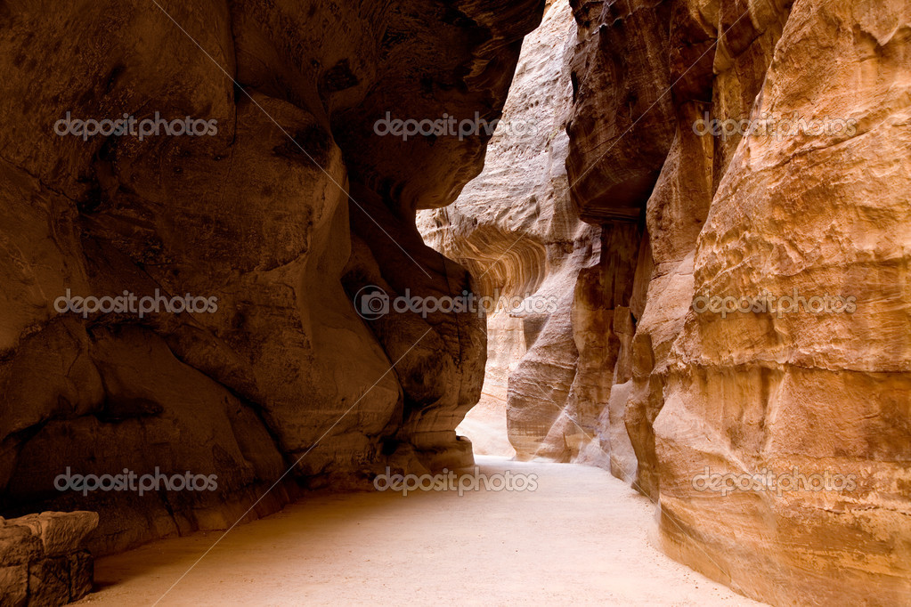 The Siq - ancient canyon in Petra
