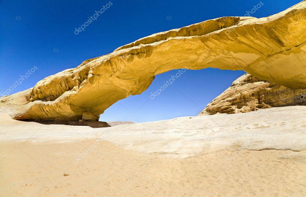 Rock bridge in Wadi Rum desert