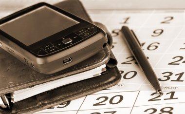 Calendar, pen, organizer and PDA