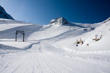 Ski slope in alps