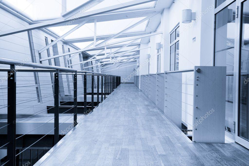 Corridor in office building