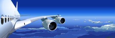 Vector Passenger Jet in the Sky