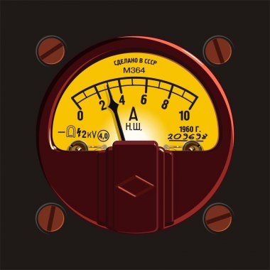 Old-fashioned ampermeter