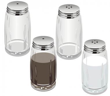 Vector salt & pepper shakers