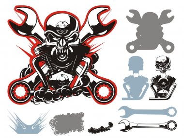 Vector bikers simbols set