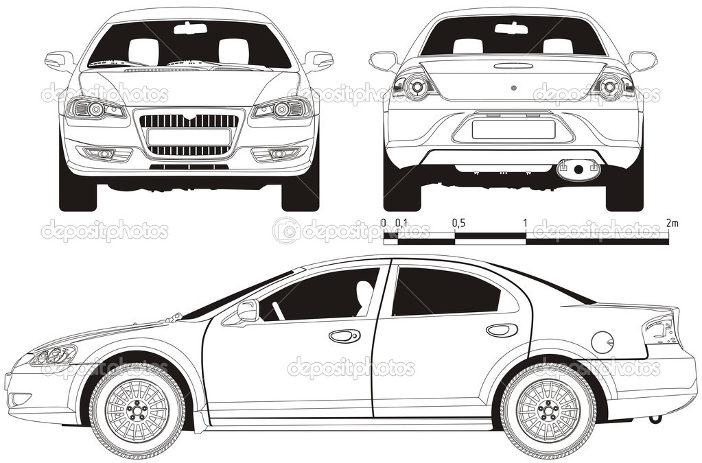 Vektor Auto technische Entwurf — Stockvektor © mechanik #1843050